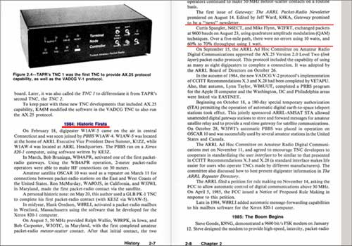 Your Gateway to Packet Radio by Stan Horzepa, WA1LOU, The American Radio Relay League, Page 2~8, Chapter 2