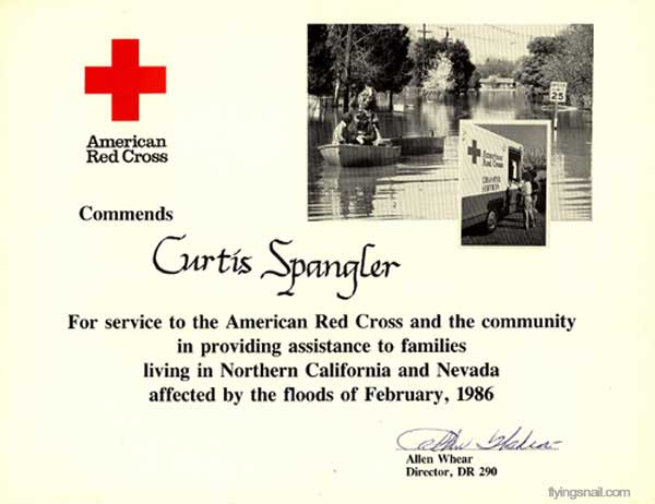 Commendation from Red Cross