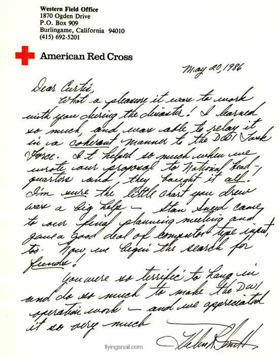 Thank You Letter from Red Cross