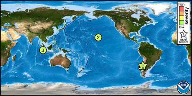 Pacific Tsunami Warning Center Global Map