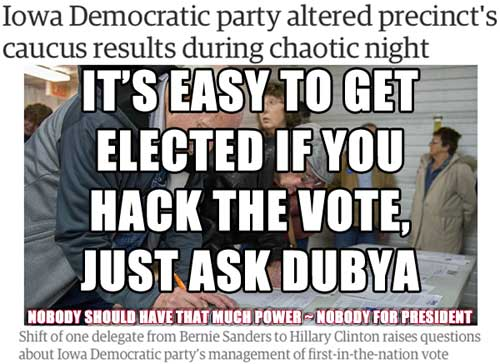 Hack the vote == another reason why NONE OF THE ABOVE should be a choice on voter ballots