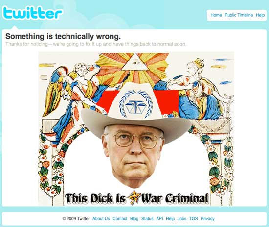 Something is technically wrong. This Dick is a war criminal