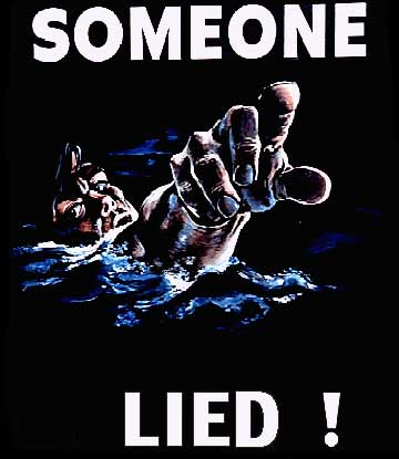 Someone Lied! ~ A finger is pointing at...