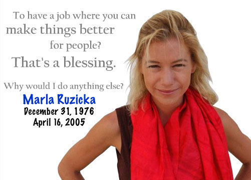 Marla Ruzicka - December 31, 1976 - April 16, 2005