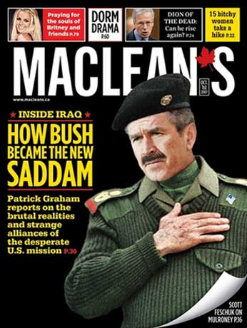How Bush Became The New Saddam - from Macleans
