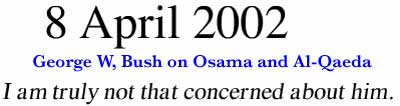 April 8, 2002 ~ I am truly not that concerned about him.