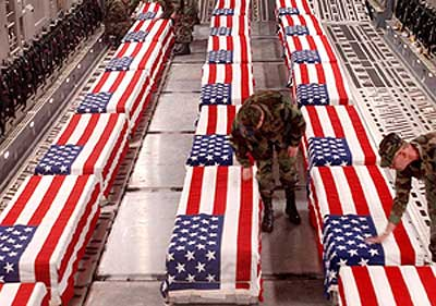 The Republican Bush Administration did not supply U.S. troops with simple basics, which got our military unnecessarily maimed and murdered;  a crime in itself.