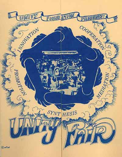 Mid '70s Unity Foundation Pamplet - Folded Front