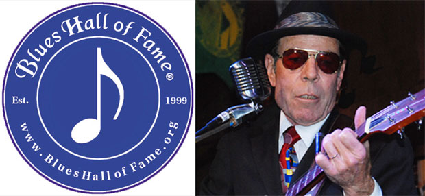American Heritage International Blues Hall of Fame logo and Mike Wilhelm photograph by Keizo Yamazawa - May 3, 2012