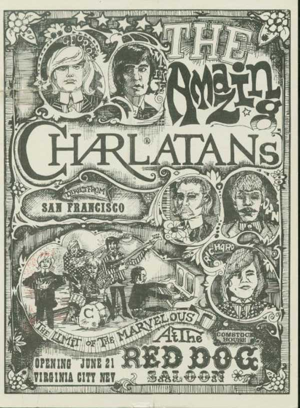 the Charlatans poster at The Red Dog Saloon