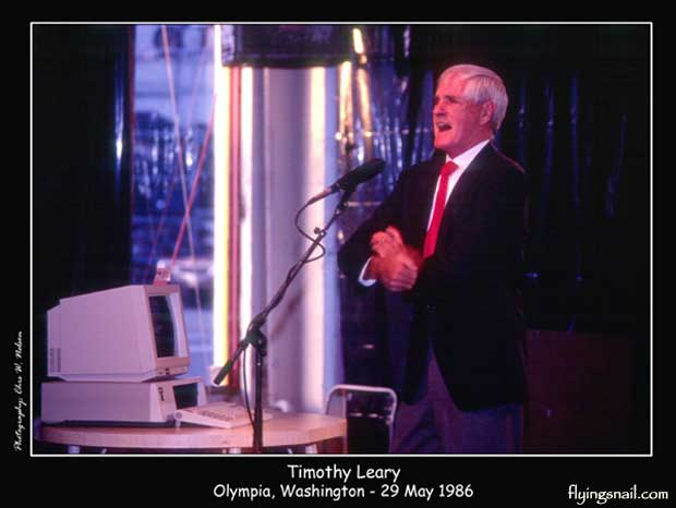 Timothy Leary - Olympia, Washington - 29 May 1986