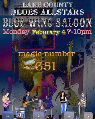 Lake County Blues Allstars - February 4th - Blue Wing Saloon