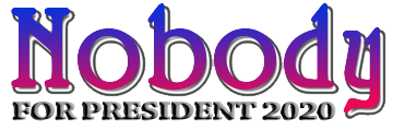 Nobody for President 2020 = NONE OF THE ABOVE on Voter Ballots