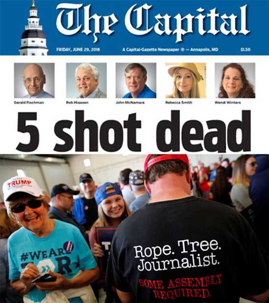 Maryland shooting: Gazette staff publish Friday edition inspired by Mike