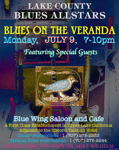Lake County Blues Allstars - Upper Lake, July 9th