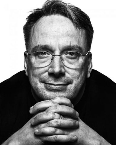Linus Torvalds (Image Courtesy of Peter Adams, The Faces of Open Source Project)