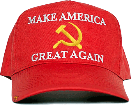 Make Communism Great Again say MCGA Cult of Communism