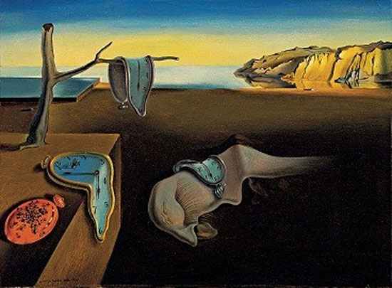 "Salvador Dalí. (Spanish, 1904-1989). The Persistence of Memory. 1931. Oil on canvas, 9 1/2 x 13"" (24.1 x 33 cm). © Salvador Dalí, Gala-Salvador Dalí Foundation/Artists Rights Society (ARS), New York. Photograph taken in 2004."
