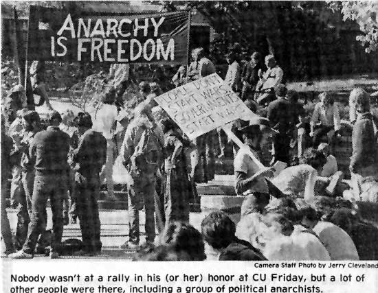 Anarchy Is Freedom - Nobody for President