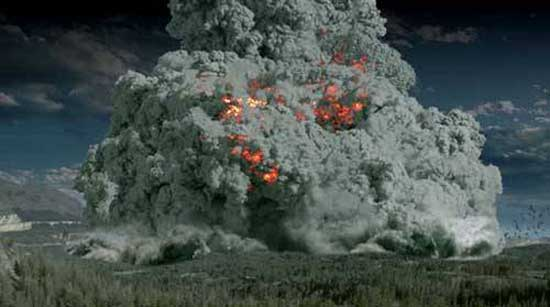 BBC Image of Yellowstone Super Volcano