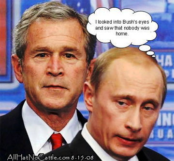 Bush and Putin image from All Hat No Cattle dot com