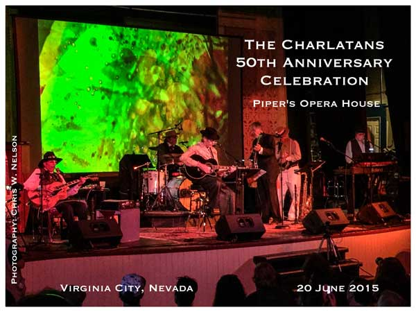 The Charlatans at Piper's Opera House, Virginia City, Nevada, June 20, 2015 ~ Photograph by Chris W. Nelson