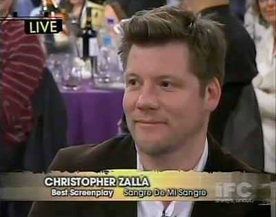 Chris Zalla at the Independent Spirit Awards