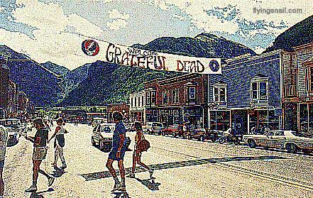 Welcome Grateful Dead banner - Telluride - Photo: Chris Nelson & digitized by curtis