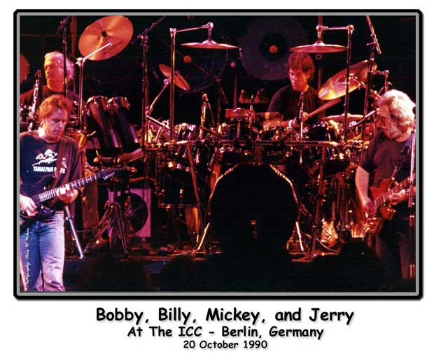 Bobby, Billy, Mickey, and Jerry at the ICC - Berlin, Germany - 20 October 1990 - Photograph by Chris Nelson