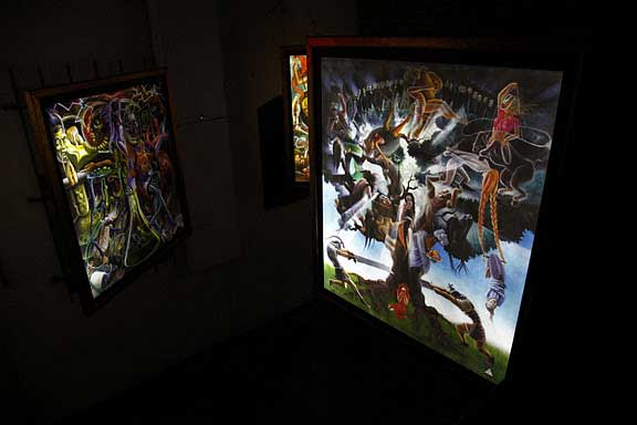 Illuminations Installation at Sancho Gallery in Los Angeles.  October 2011.