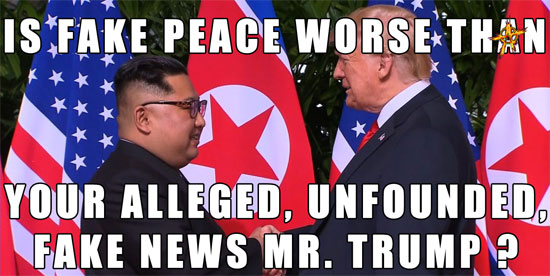 Fake Peace, Mr. President?