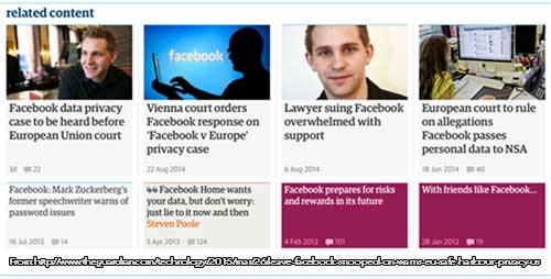 Facebook on the Guardian