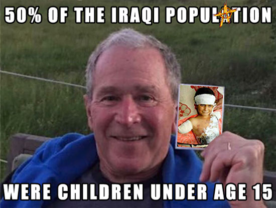 50% of the Iraqi population were children under the age of 15