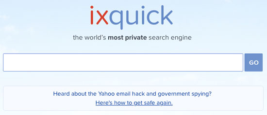 ixquick ~ the world's most private search engine