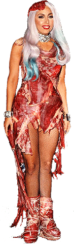 Lady GaGa in her Meat Dress