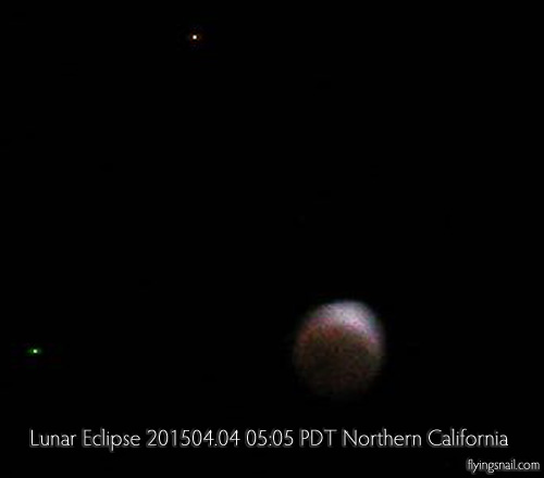 Lunar Eclipse ~ 201504.04 ~ 05:05 PDT ~ Northern California