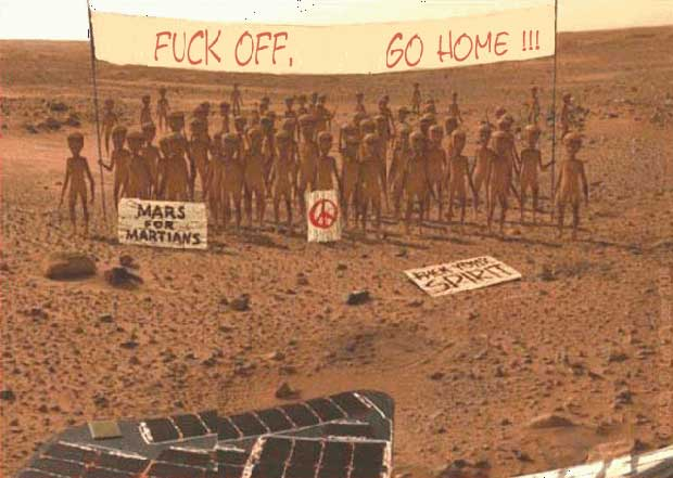 Google attempts to put self driving cars on Mars?