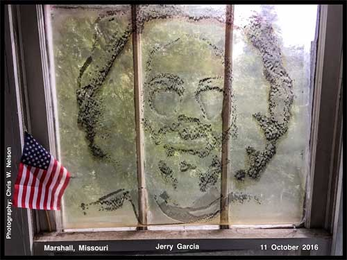 Jerry Garcia window photo by Chris Nelson