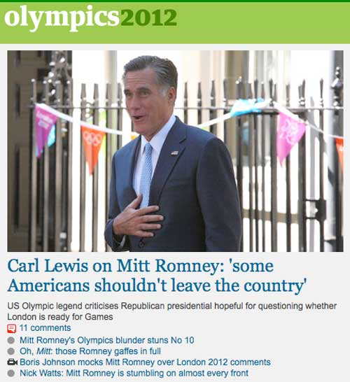 Carl Lewis on Mitt Romney: 'some Americans shouldn't leave the country'