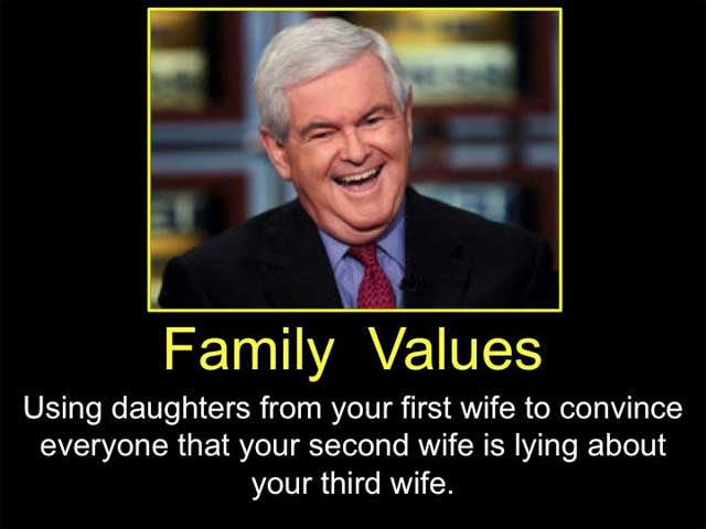 Family Values: Using daughters from your first wife to convince everyone that your second wife is lying about your third wife