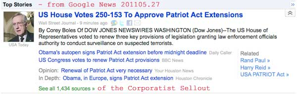 Patriot Act Sells Out U.S. Citizens - Open Patriot Act cartoons in new tab or window