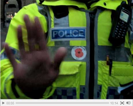 Photographer films his own 'anti-terror' arrest