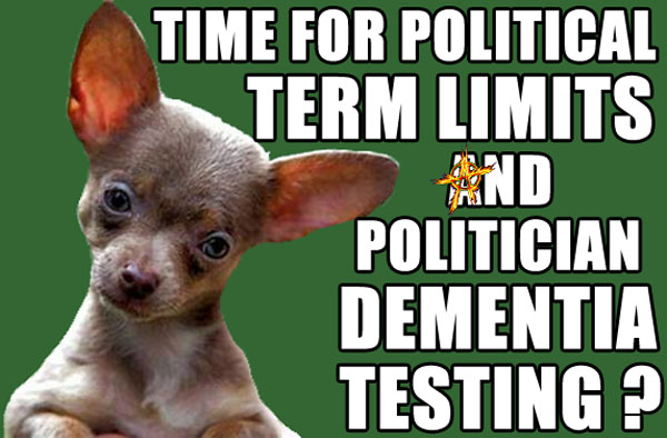 Time for Policital TERM LIMITS and Politician DEMENTIA Testing?