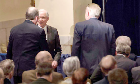 Sessions and Kislyak together April 27, 2016 at the Mayflower Hotel