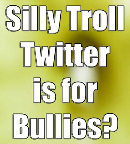 Silly Troll Twitter Is For Bullies?