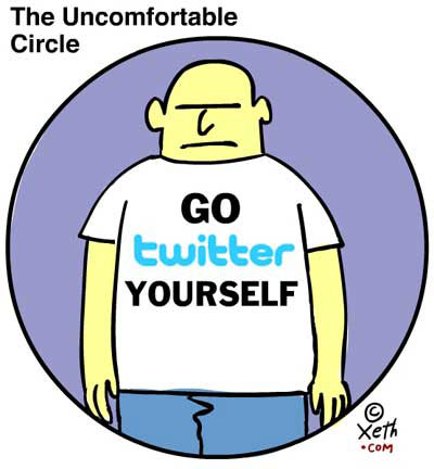 The Uncomfortable Circle - Author Signing Today, a Xeth cartoon