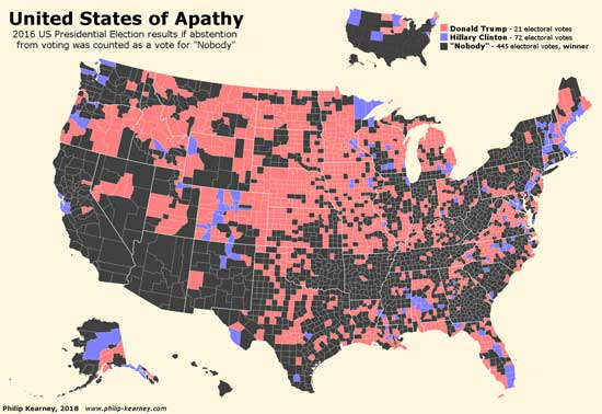 United States of Apathy by PHILIP KEARNEY CARTOGRAPHY