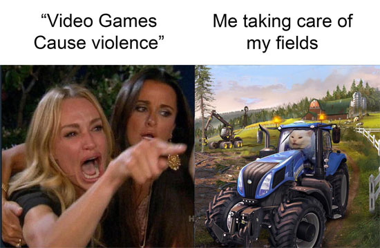 Media saying video game makes people violent