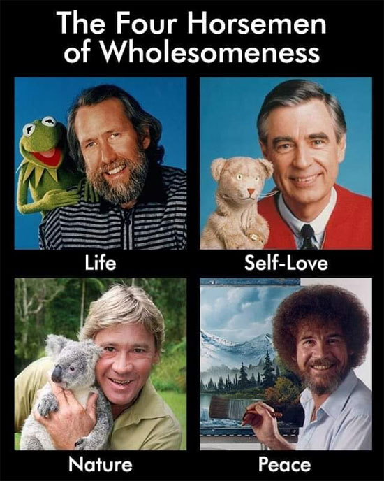 The Four Horsemen of Wholesomeness