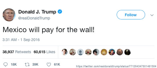 Who Will Pay For The WALL? Mexico will pay for the wall!